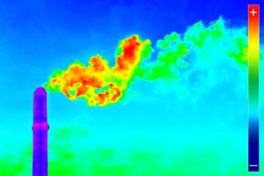 Infrared thermography image showing the