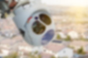Closeup of A Drone Wing Camera and Senso