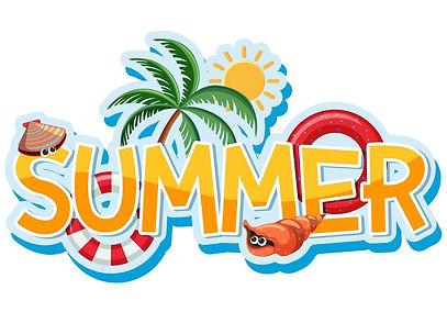 font-design-for-word-summer-vector-19520