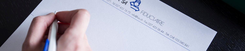 Fiduciaire FIVA Sion - Formulaire de contact