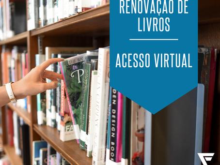 Renove o empréstimo de livros virtualmente. Veja o passo a passo