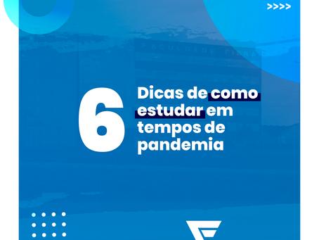 6 dicas de como estudar em tempos de pandemia