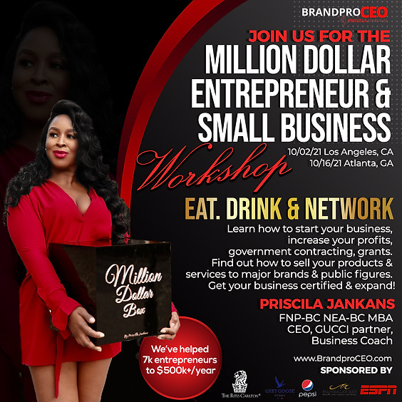 Million Dollar Entrepreneur & Small Business Workshop 2021