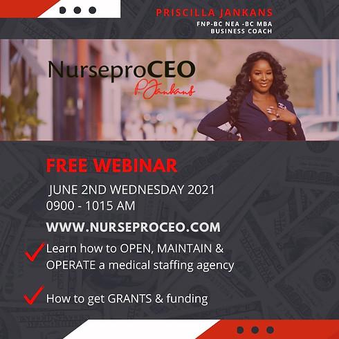 NurseproCEO - Free 1Hr Webinar Healthcare Entrepreneurs