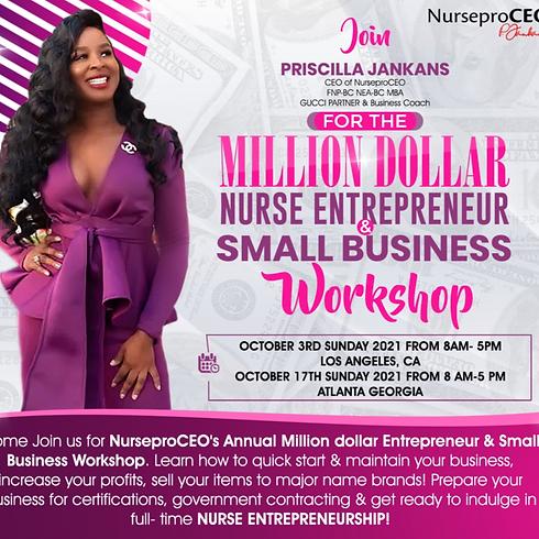 Million Dollar  Nurse Entrepreneur & Small Business Workshop 2021