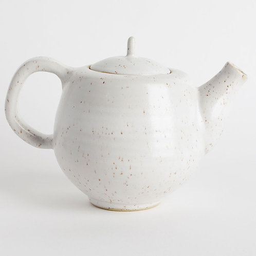 Satin White Angular Teapot