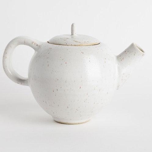 Satin White Betty Teapot