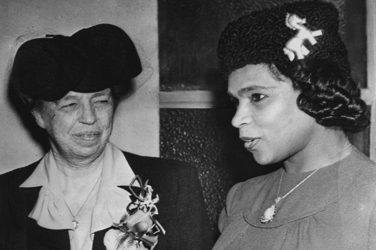 Eleanor Roosevelt and Marian Anderson