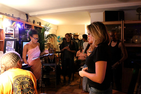 April Gibson hosts her first East Village Salon