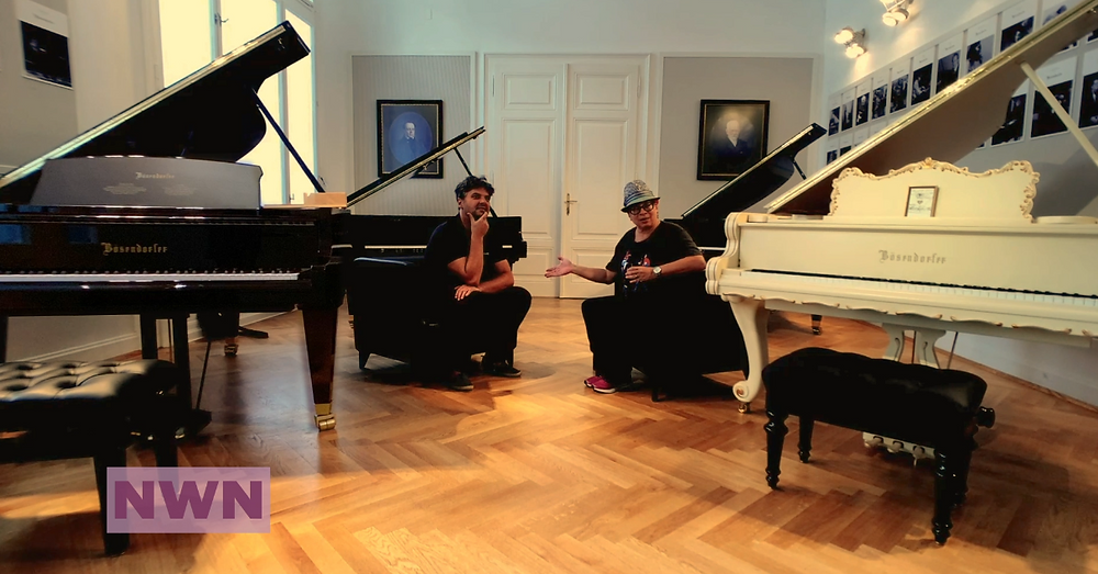 With Bösendorfer showroom manager Vladimir Bulzan
