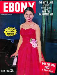 Philippa Schuyler on the cover of Ebony magazine