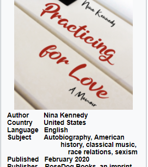 """Practicing for Love: A Memoir"" by Nina Kennedy"