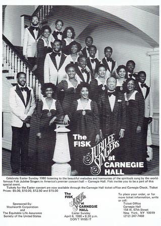 The Fisk Jubilee Singers at Carnegie Hall