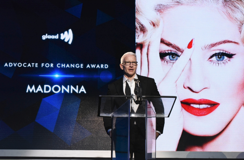 Anderson Cooper Introducing Madonna