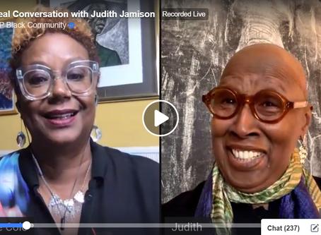 Judith Jamison on Facebook Live