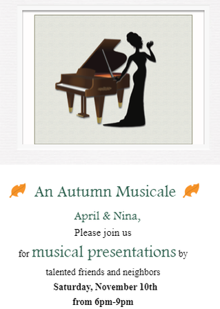 An Autumn Musicale at Chez Hosford