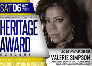 Valerie Simpson to Receive Fisk Jubilee Singers Heritage Award