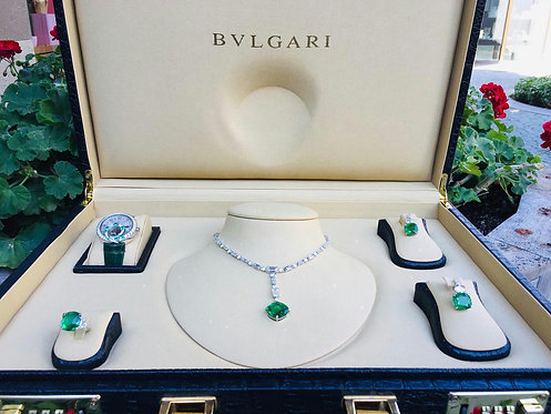 BVLGARI Diamonds and Emeralds Sets Full Certificate