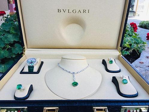 BVLGARI Diamonds and Emeralds Sets Full Certificate