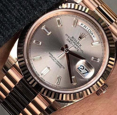 Rolex 228235 Day-Date Rose Gold & Diamond 40mm €39700
