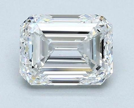 Emerald Cut Diamond 1.5ct Clarity VS1 Color F