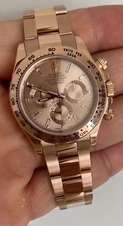 Rolex 116505 Daytona 40mm Rose Gold Diamond €42500