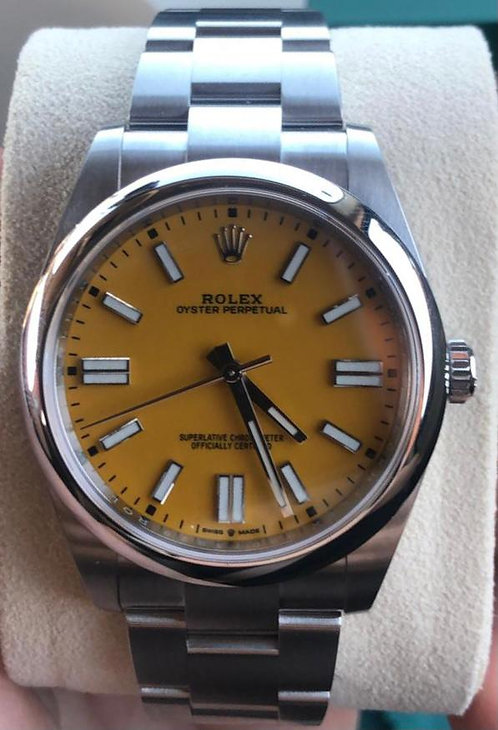 Rolex Oyster Perpetual 41 Yellow Dial