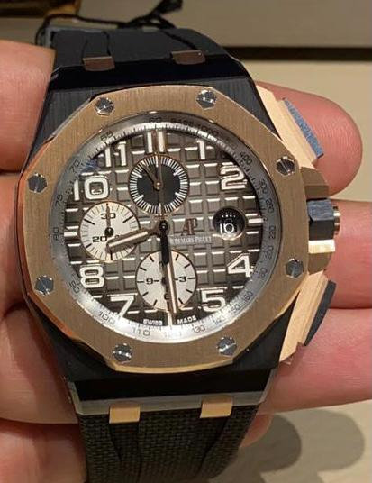 Audemars Piguet 26405NR Royal Oak Offshore Ceramic Chronograph Black Dial