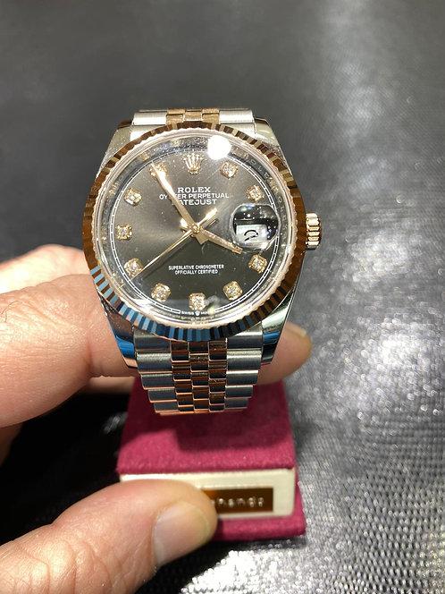 Rolex Datejust Diamond Dial Black Dial