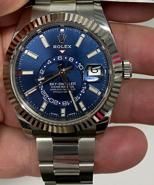 Rolex 326934 Sky-Dweller Stainless Steel Blue Dial €24000