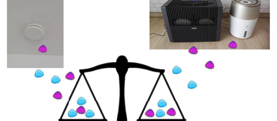Luftbefeuchter vs Wohnraumlüftung