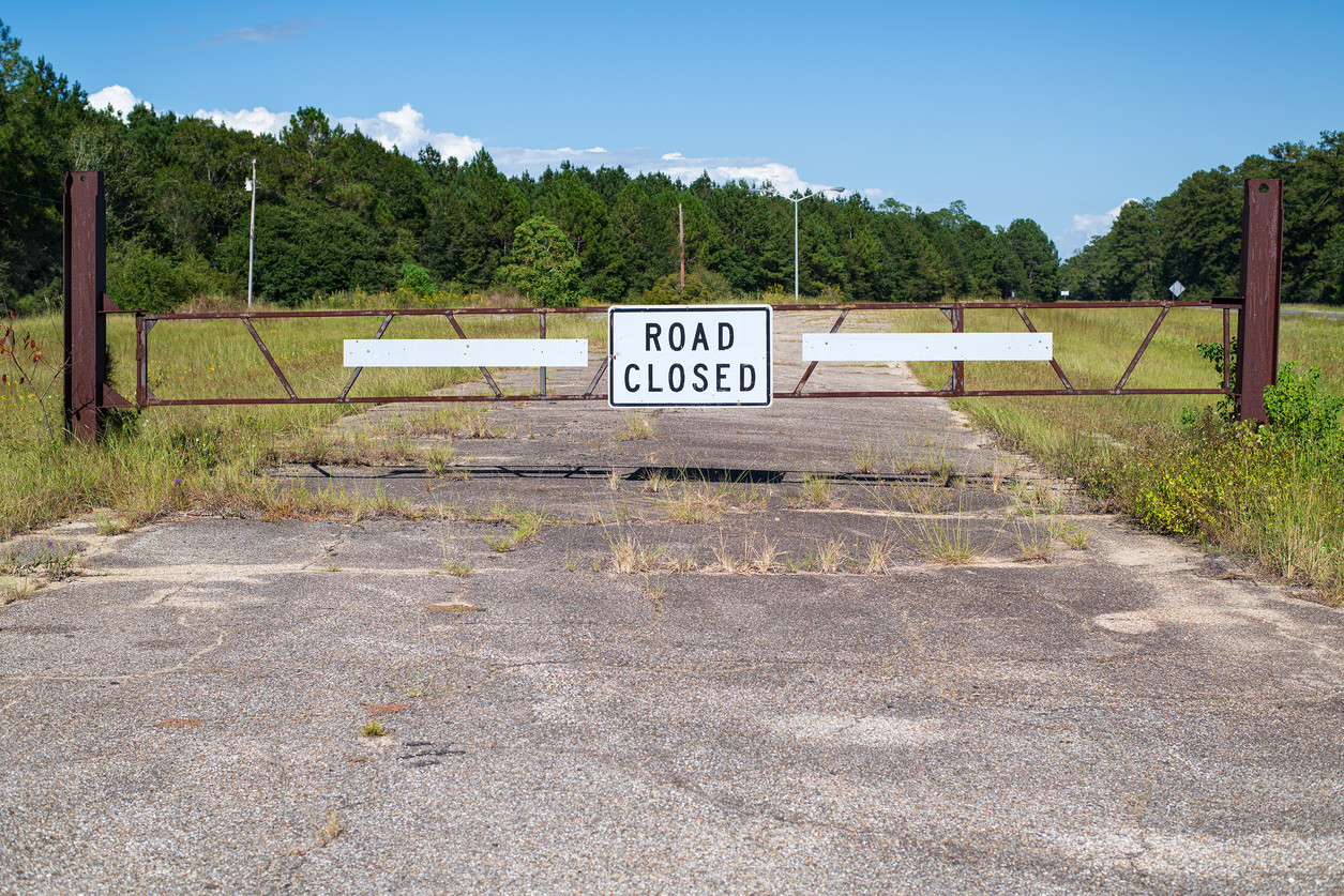 Closed Road, Highway 90, New Orleans East