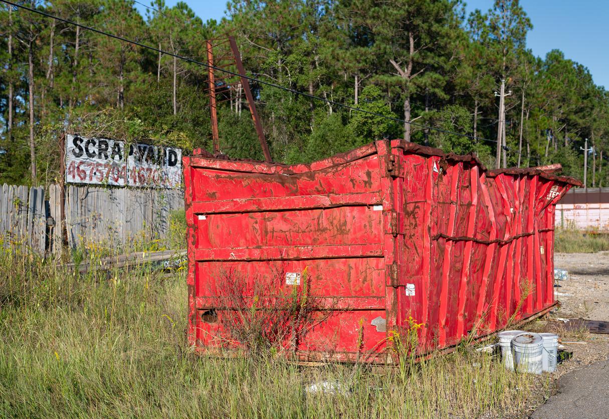 Scrapyard Dumpster, Waveland, Mississippi
