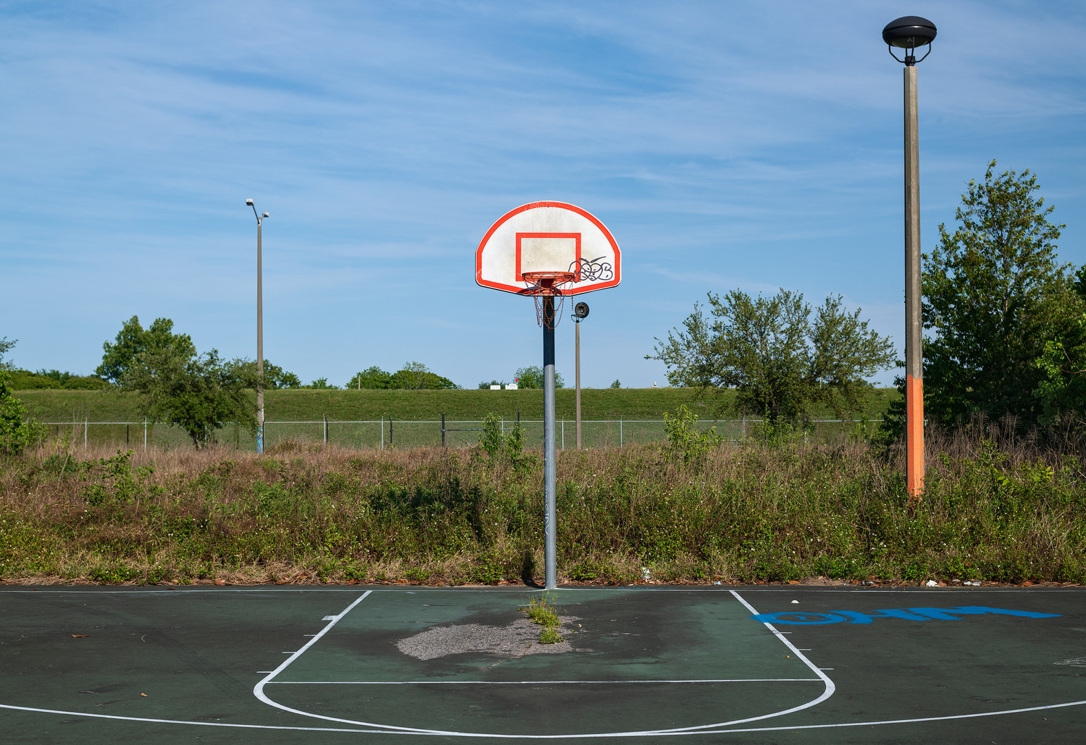"""Basketball Court, Bywater, New Orleans"""