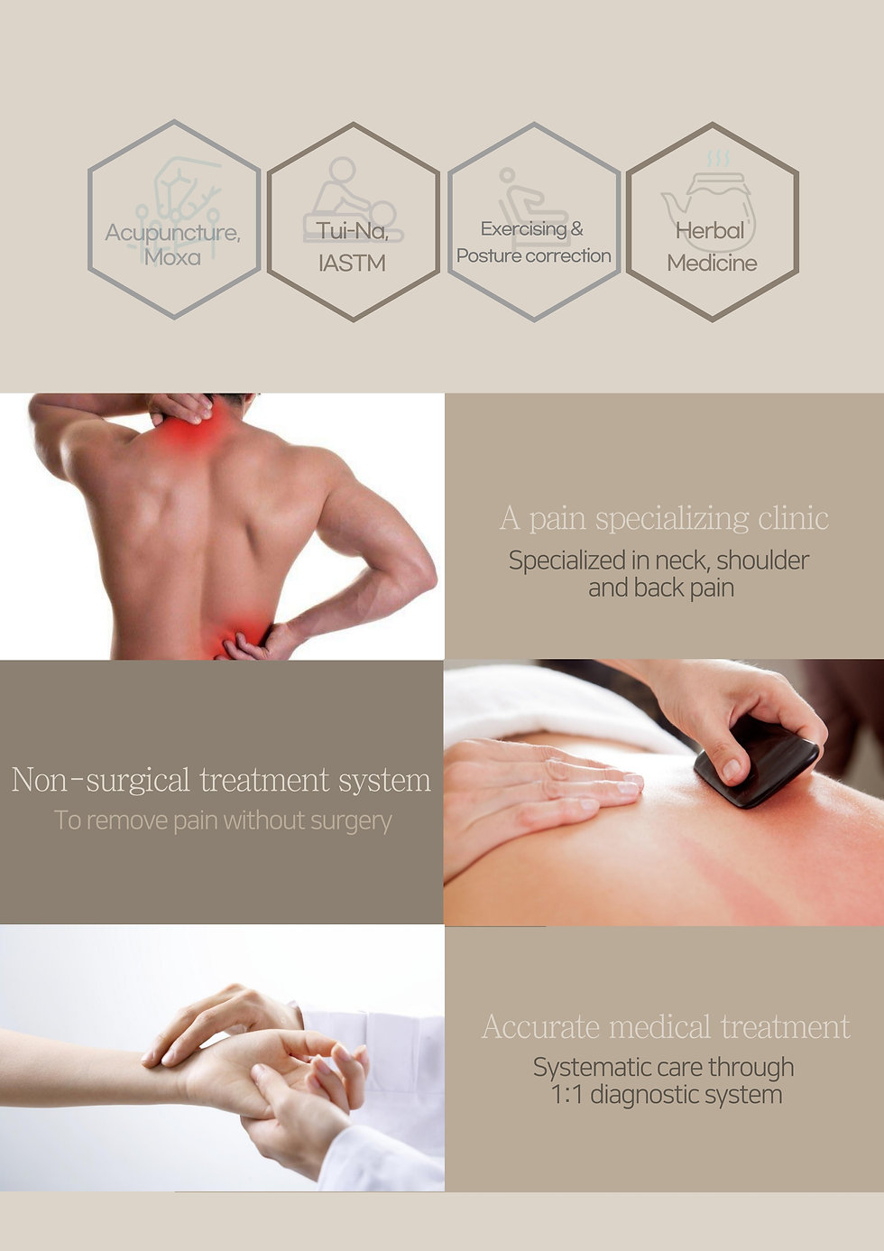 acupuncture methods  Specializes in neck, Shoulder and back pain