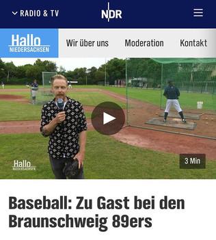 NDR: Hallo Niedersachen Live bei den 89ers