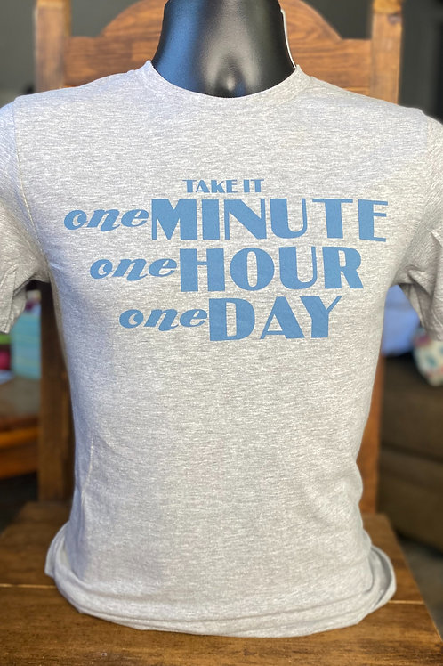 GRAY #1minute1hour1day T-shirt