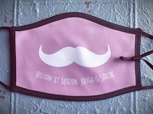 Pink Laugh and Stache Mask - FULL STACHE