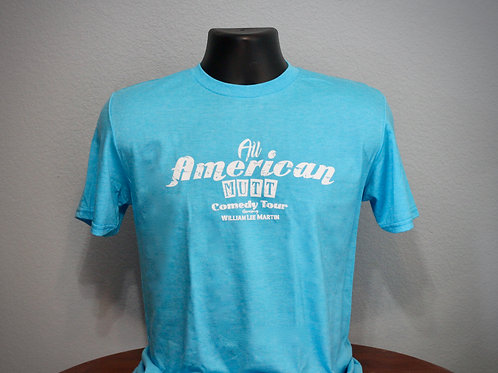 Heather Carib Blue All American Mutt Shirt