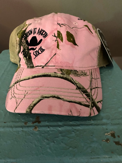 Laugh and Stache Cap - Camouflage Pink