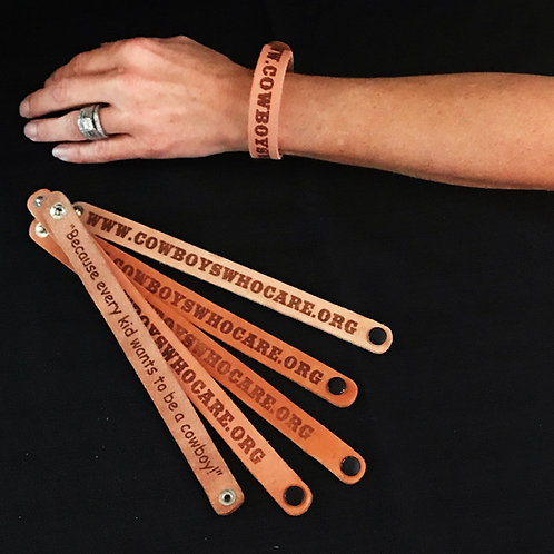 CWCF Leather Wrist Band SMALL