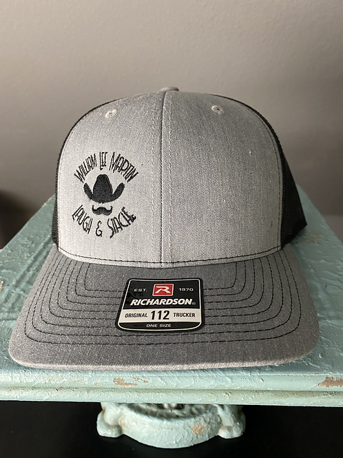 Laugh and Stache Cap - Grey and Black