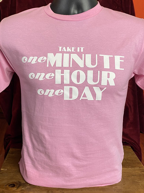 PINK #1minute1hour1day T-shirt
