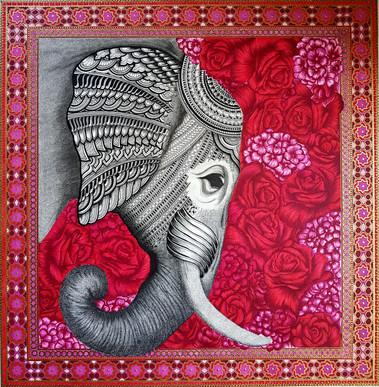 elephant in bloom.