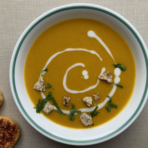 Sweet Potato Soup with Lemongrass and Ginger