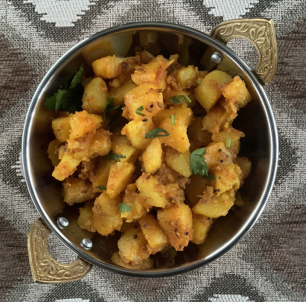 Koru Batata Nu Shaak | The Rasoi Recipes