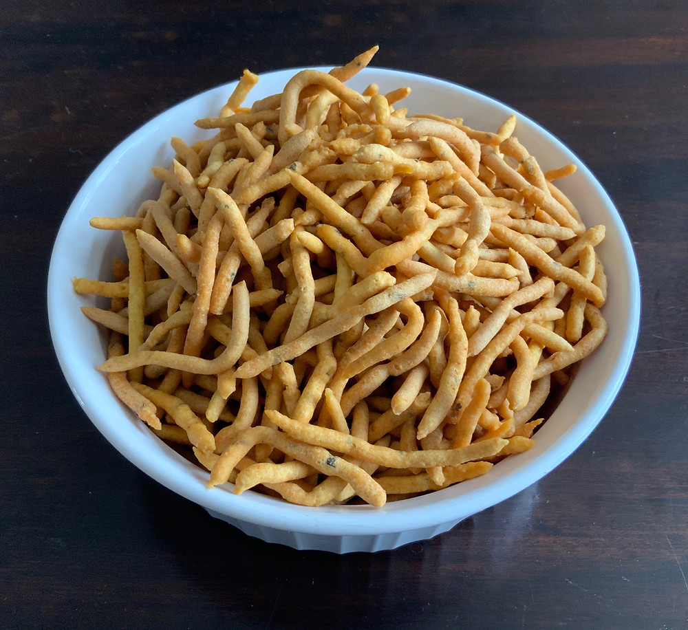 Masala Tikha Gathiya   The Rasoi Recipes