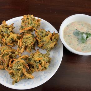 Methi Onion Carrot Bhajiya