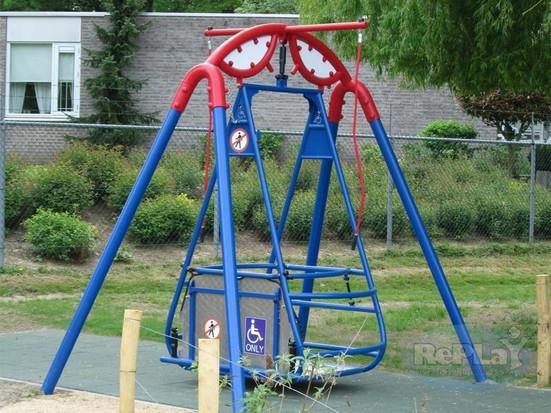 Een speeltuin voor gehandicapte mensen