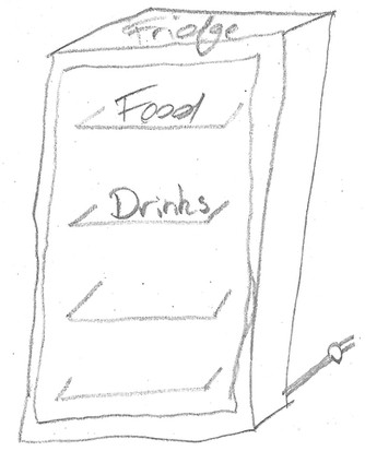 Throwaway food fridge